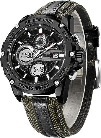 Amazon.com: Relojes Hombres Deporte Digital Analógico ...