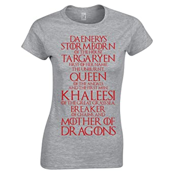 ab3f00fd8c Swaffy Tees 619 Queen Targaryen Names Funny Women's Tee Shirt at Amazon  Women's Clothing store: