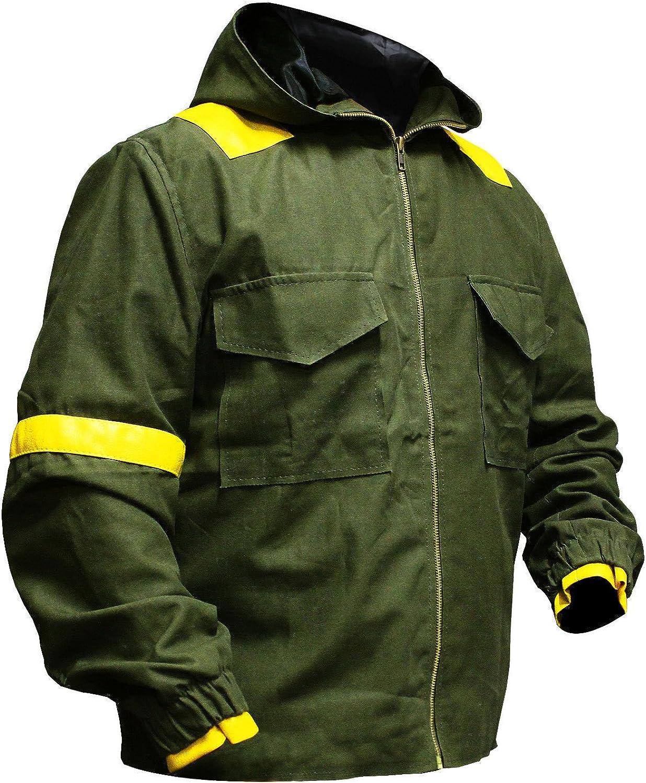 e Genius Men's Bomber Twenty One Hi-Quality with Jumpsuit Pilots Green Hood Cotton Jacket Green Cotton Jacket