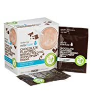 UpSpring Baby Milkflow Fenugreek and Blessed Thistle Powder Chocolate Lactation Supplement Drink Mix, Breastfeeding Supplement for Lactation Support, 18 Count, to Promote Healthy Breastmilk Supply