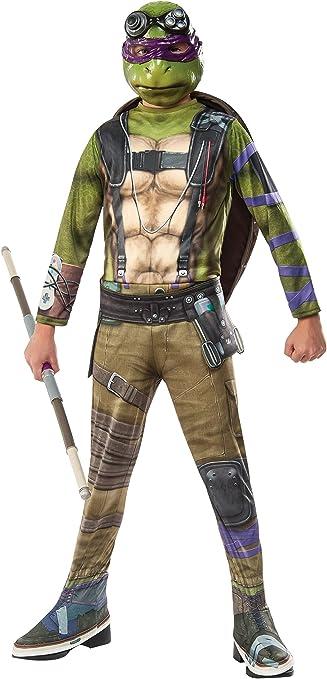 Rubies Costume Kids Teenage Mutant Ninja Turtles 2 Value Donatello Costume, Small