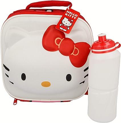Hello Kitty Borsa Isolante con Tracolla /& Bottiglia Easy Sport Character 3D 530 ML