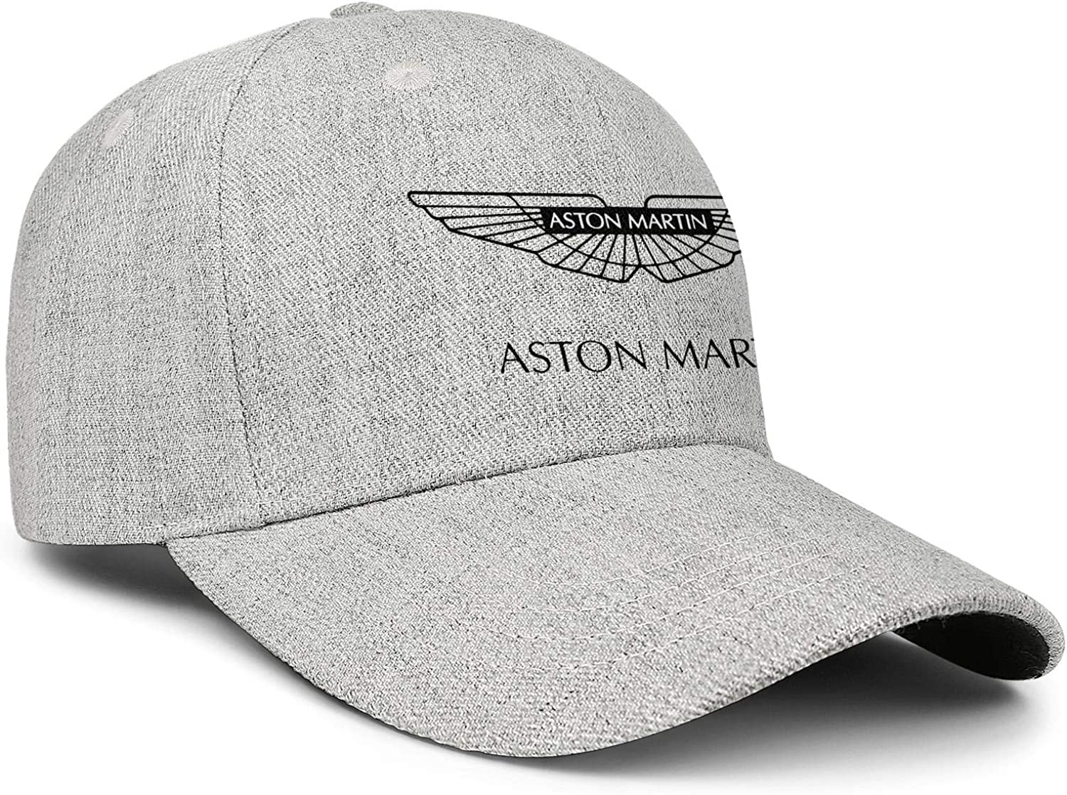 All Cotton Grey Baseball Caps Aston-Martin Snapback Printed Hats