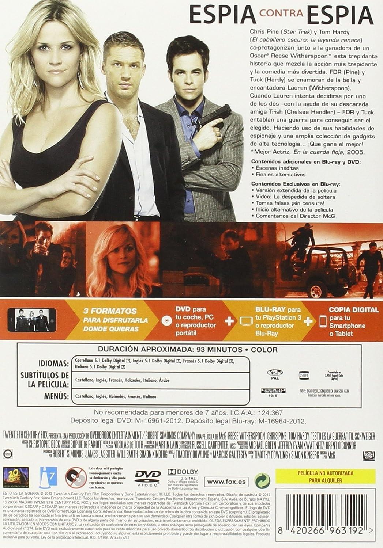 Amazon.com: Esto Es La Guerra (Dvd+Bd+Copia Digital) [DVD] (2012) Reese Witherspoon; Chr: Movies & TV