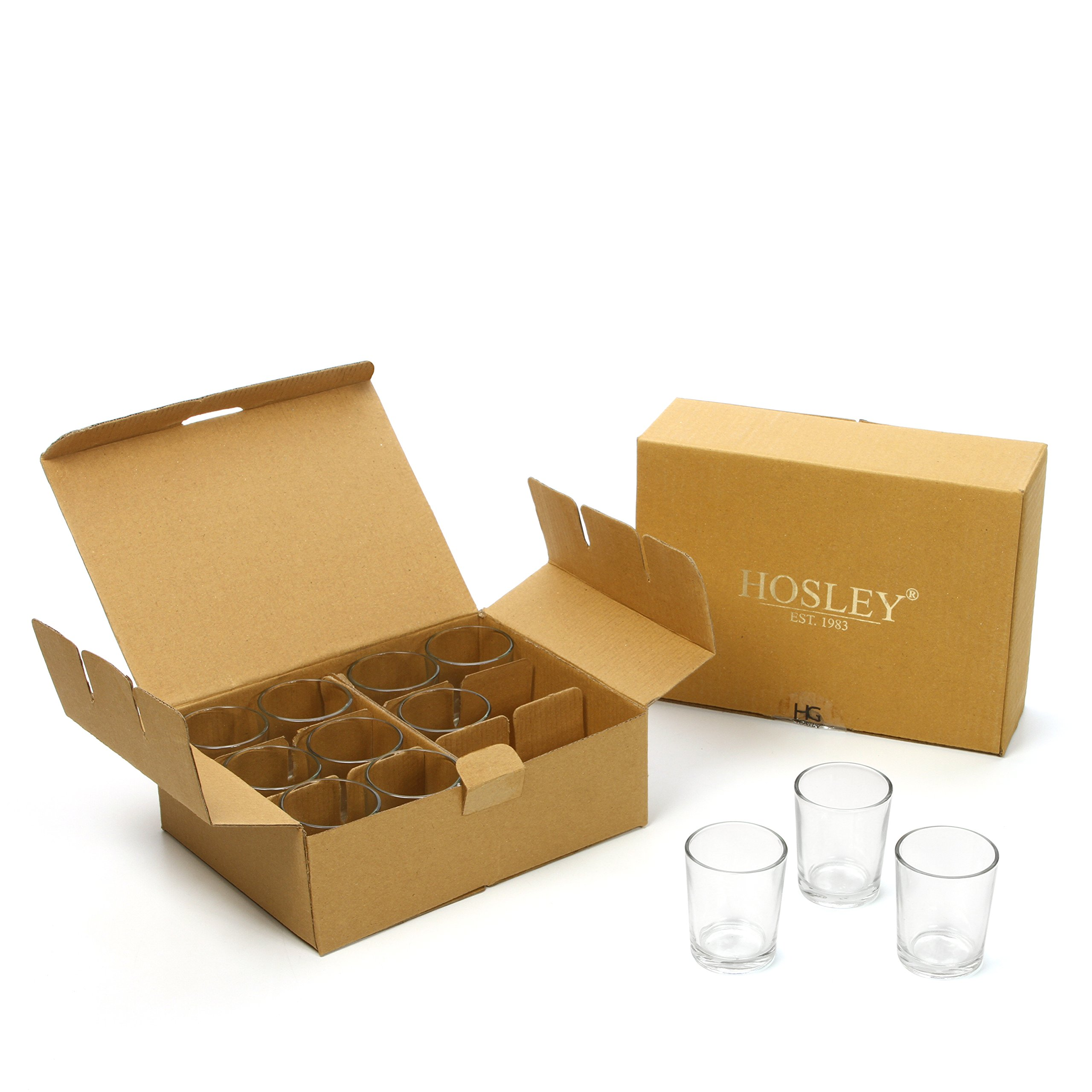 Hosley Set of 72 Clear Votive/Tea Light Glass Candle Holders. Bulk Buy. Ideal for Parties, Wedding, Special Events, Aromatherapy and Everyday Use. Tealights O2