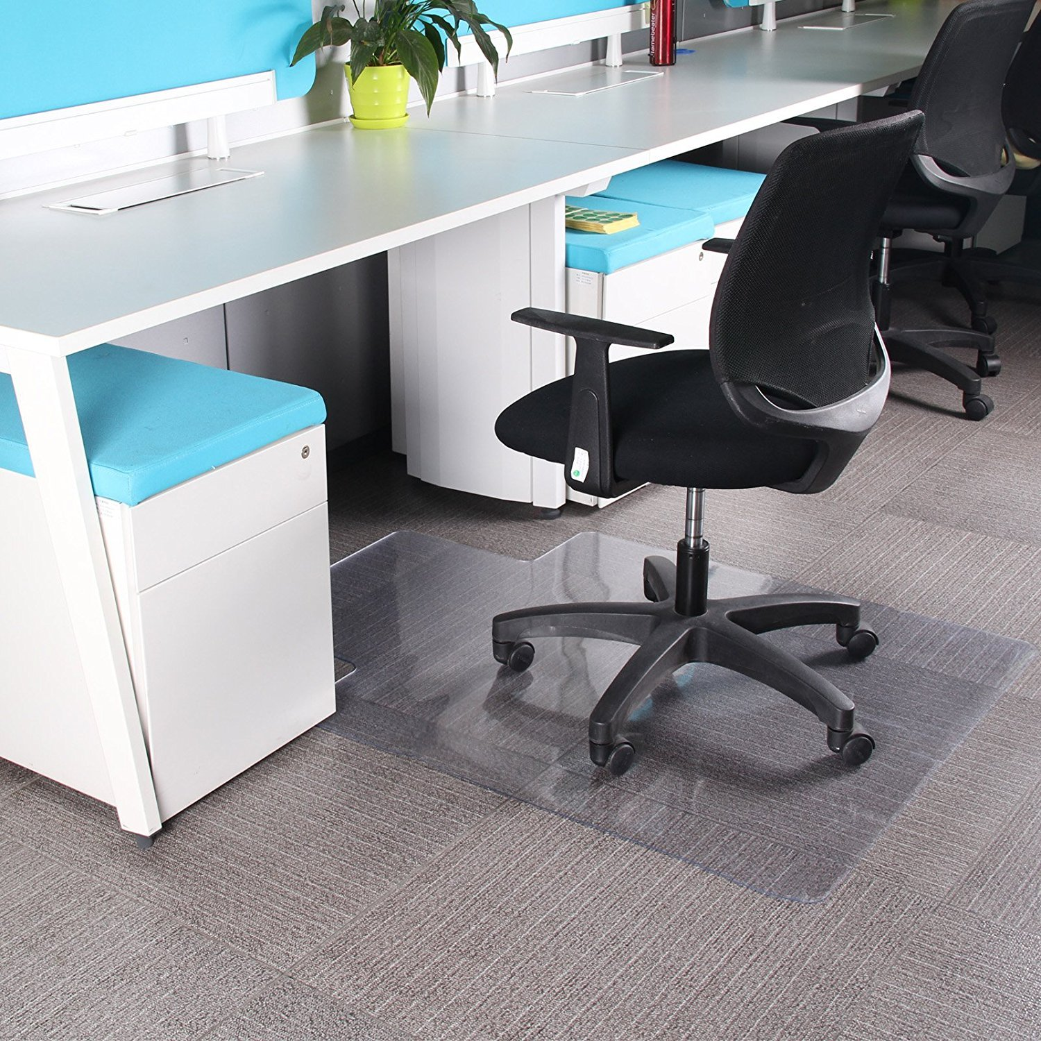 AllRight Chair Mat Carpet Protection PVC Clear Transparent for Hard Floors 120 x 90CM OEM