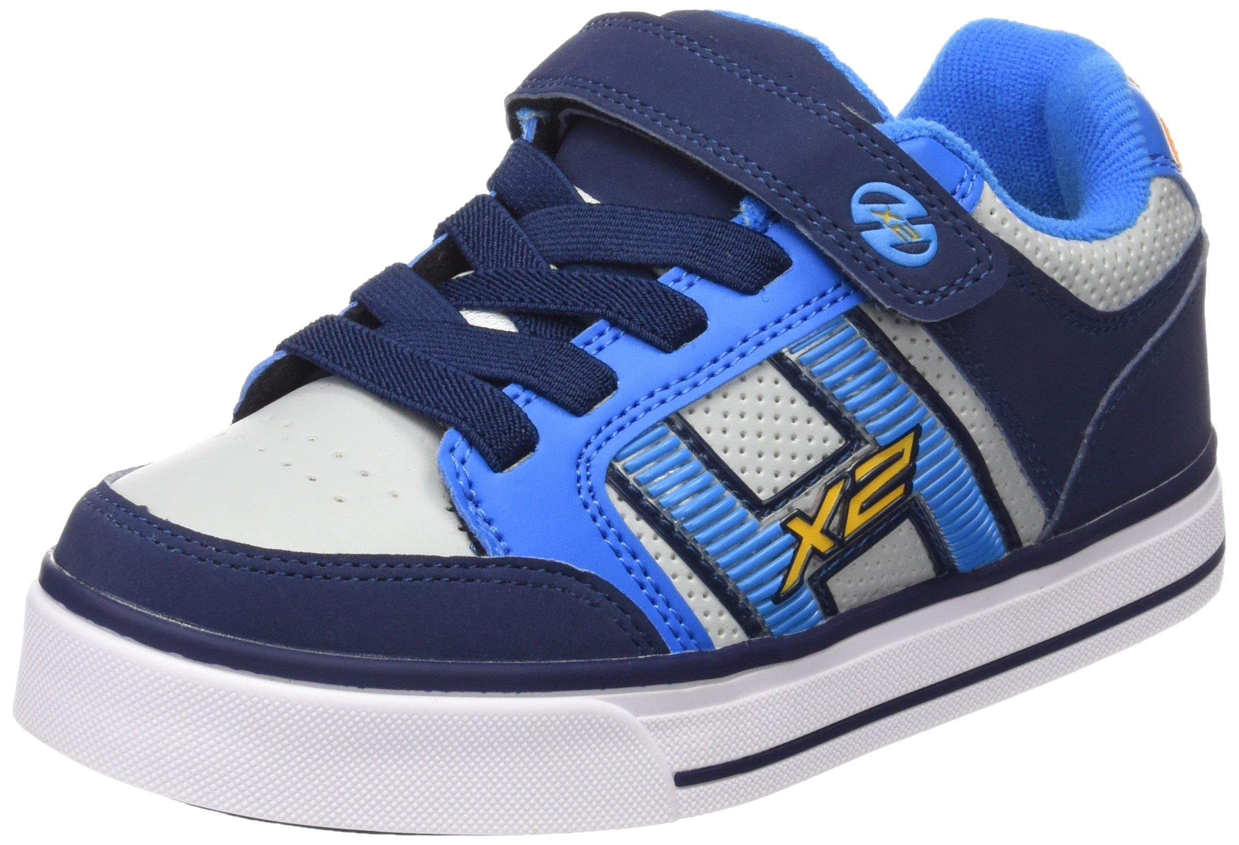 Heelys Bolt Plus X2 Sneaker (Little Kid/Big Kid), Navy/New Blue/Lunar Grey, 13 M US Little Kid by Heelys