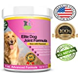 Advanced All Natural Elite Dog Joint Formula Fast Acting Dog Joint Supplement Chews Helps Sore Joints, Hip & Joint Health with Glucosamine, Chondroitin, MSM, Flaxseed