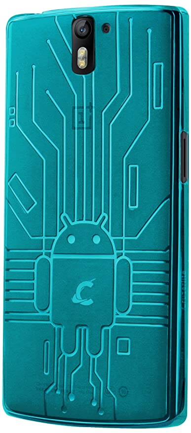 CruzerLite Bugdroid Circuit - Carcasa para OnePlus One, azul