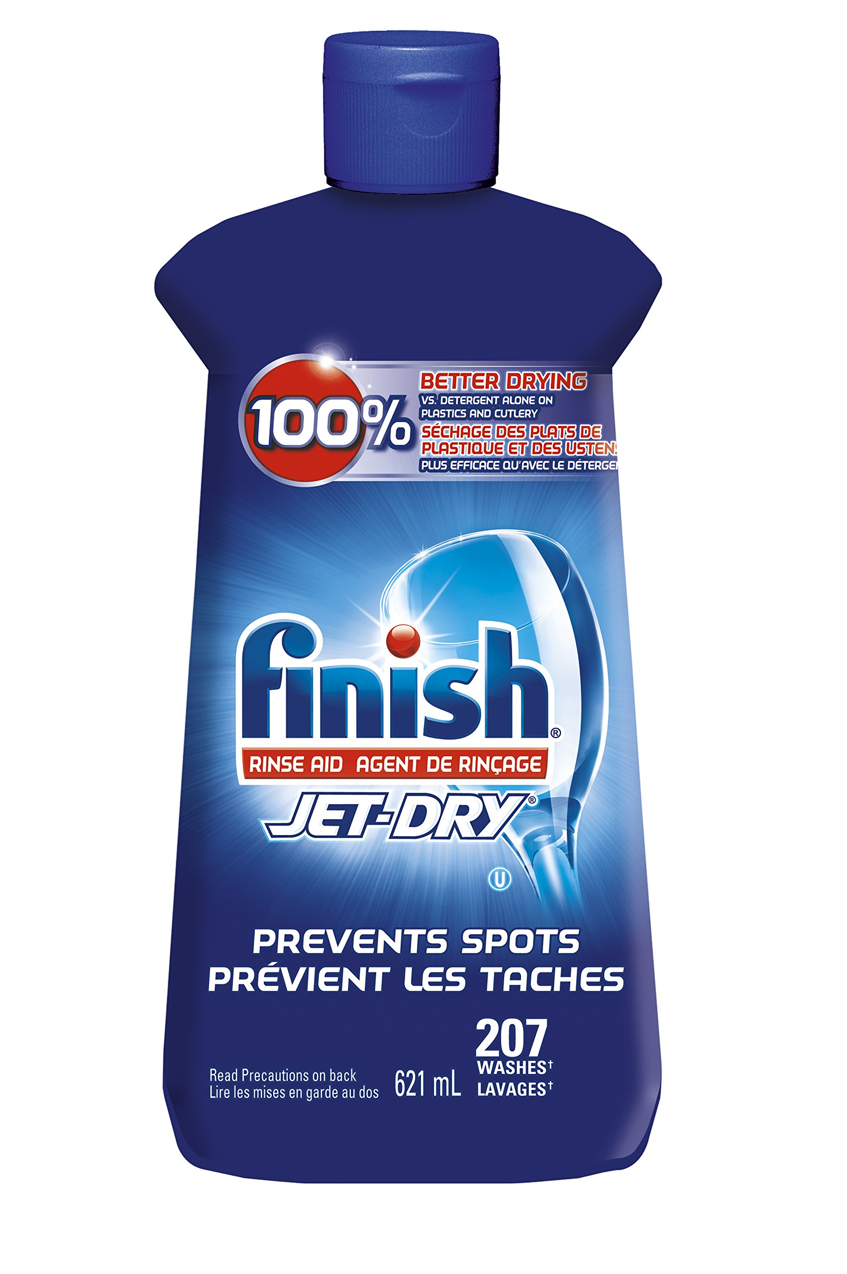Finish Jet-Dry Rinse Aid, Original, 621ml, Dishwasher Rinse Agent & Drying Agent product image
