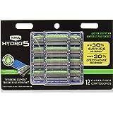 Schick Hydro 5 Mens Sensitive Razor Blade Refills 12 Count - Unboxed