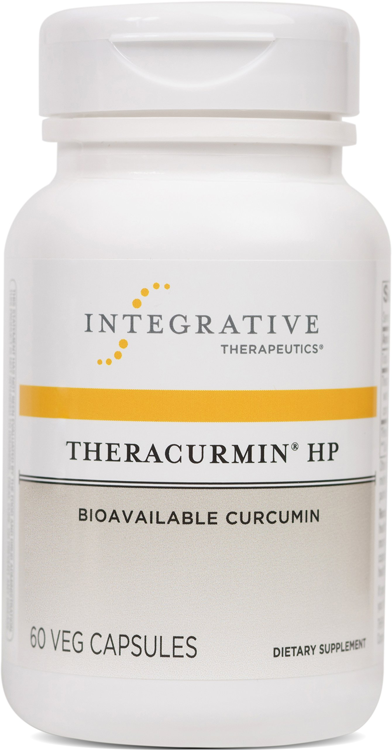 Integrative Therapeutics - Theracurmin® HP - Curcumin Turmeric Supplement - 27x More Bioavailable than Other Extracts - Increased Absorption - NSF Certified for Sport - Vegan - 60 Capsules