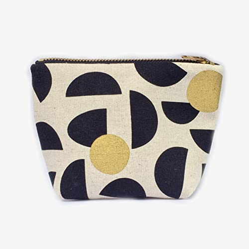b88ed7501454 Amazon.com: Geometric Zipper Pouch Canvas Makeup Bag Small, Gifts ...