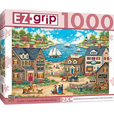 MasterPieces EZ Grip Extra Large Jigsaw Puzzle, Mr. Wiggins Whirligigs, Featuring Art by Bonnie White, 1000 Pieces: Toys & Games