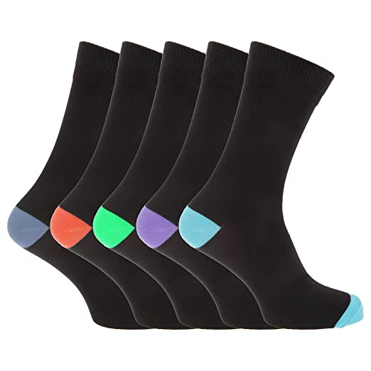 Pierre Roche Mens Cotton Rich Socks (Pack Of 5) (US Shoe 7-