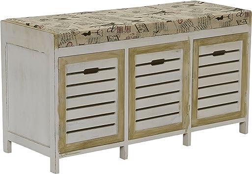 shoe storage shelf bench entry way furniture distressed decor 36.5