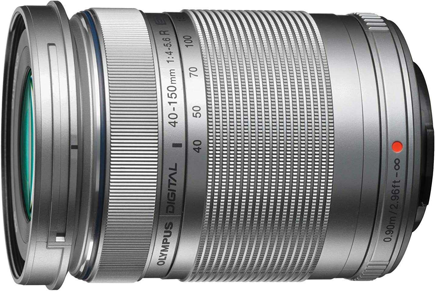 Olympus M.Zuiko - Objetivo digital ED 40 - 150 mm F4 - 5.6 II, teleObjetivo, apto para todas las cámaras MFT (modelos olympus OM - D & Pen, serie G de Panasonic), plata