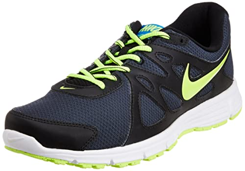 1cf2186079beb Nike Men s Revolution II Black Fluorescent Green Running Shoes -11 UK India  (46