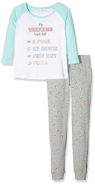 New Look Wish List, Conjuntos de Pijama para Niñas, Verde (Mint Green 37
