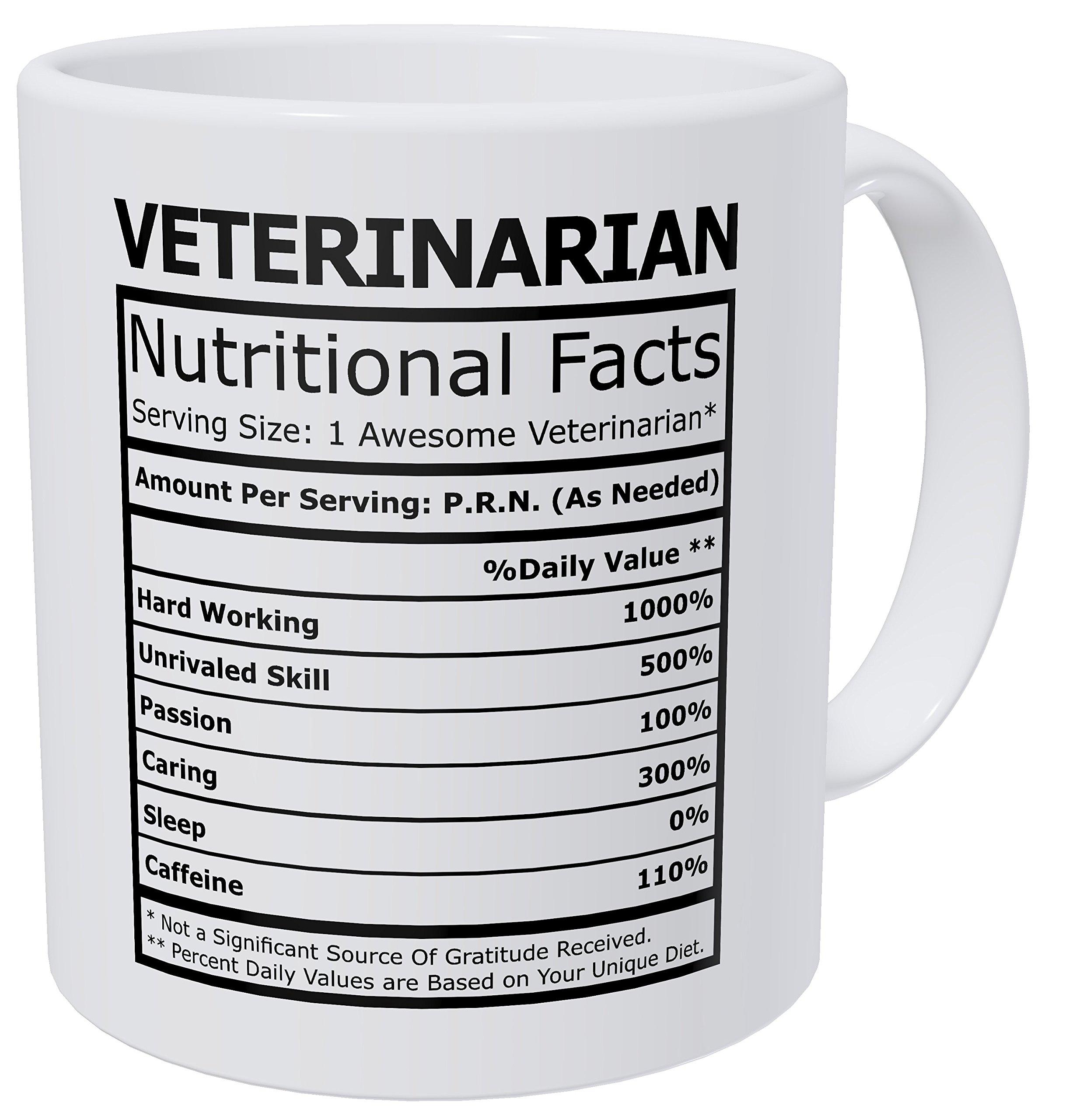 Wampumtuk Veterinarian Nutritional Facts Funny Coffee Mug 11 Ounces Inspirational And Motivational