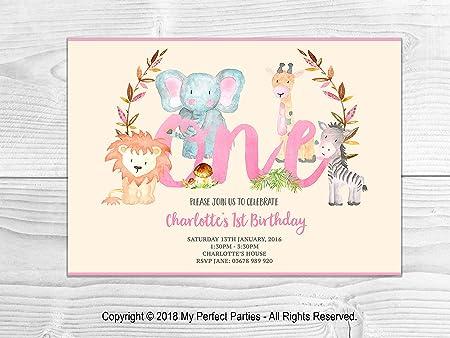 Invitaciones personalizadas para el primer cumpleaños de ...