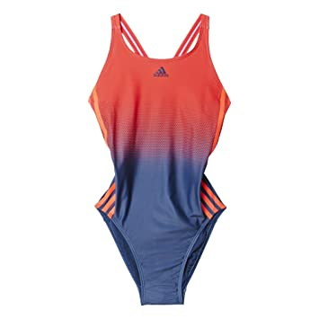 394711b2b90c adidas Damen Badeanzug Schwimmanzug 3 Stripes One Piece, Shored Minblu, 32,  S93127
