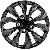 Pilot Automotive WH555-15GM-B 15 Inch 15' Universal Fit Spyder Wheel Cover | Set of 4 | Fits Toyota Volkswagen VW Chevy…