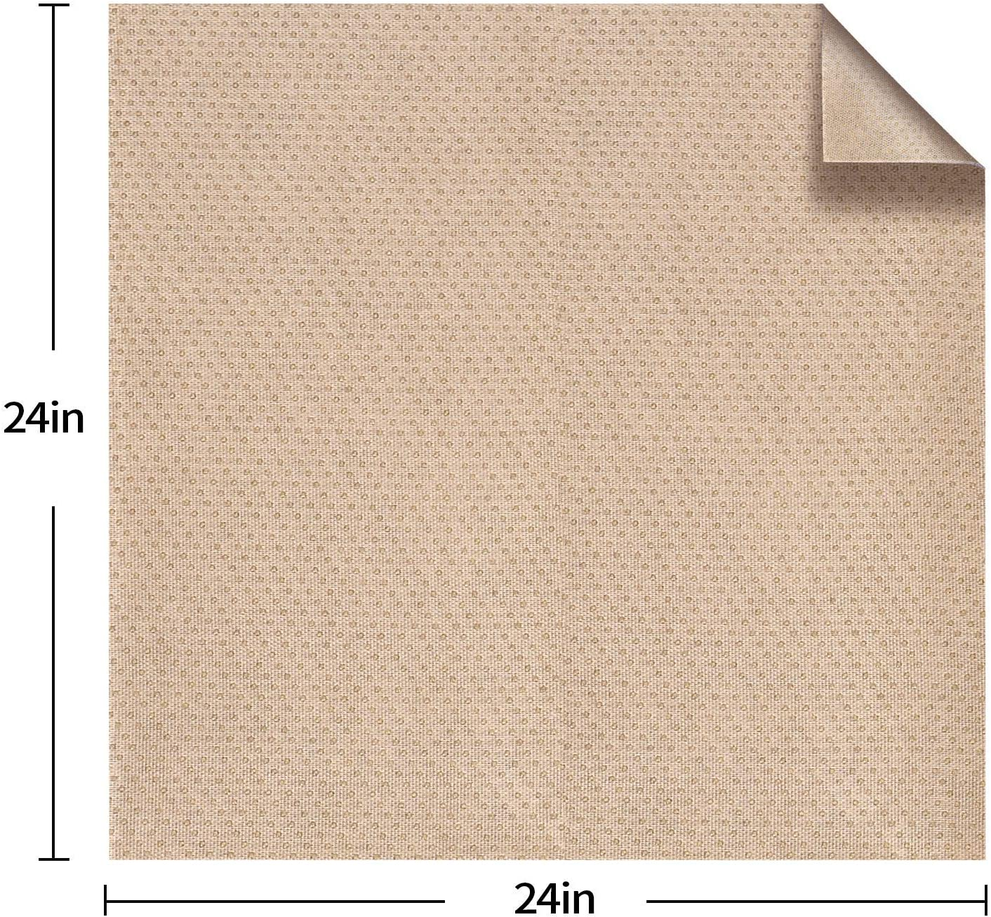 Felt in The Middle 24 x 24in BLS Non-Slip Cushion Underlay Couch Underlay Pad 3 Pack Keep Your Cushions Stay in The Place for Sofa Upgraded Double Sided Anti-Slip Silicone