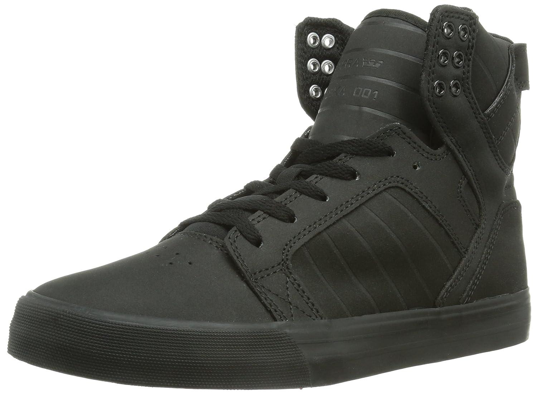 Supra Men's Skytop Fashion Sneaker B008N0XO0C Medium / 9.5 C/D US Women / 8 D(M) US Men|Black Satin Tuf