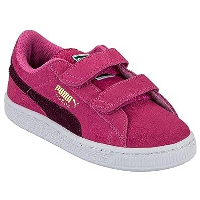 903ce5a109cd Baskets enfant Puma Suede 2 Strap pour fille en rose: Puma: Amazon ...