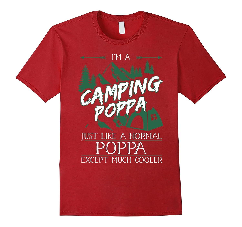 Mens Im a Camping Poppa T Shirt Camping Poppa Tshirt-TH