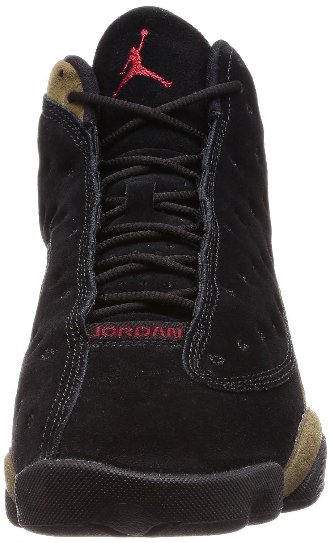 d47b3e4a1f1 Amazon.com | NIKE 414571-006 Men AIR 13 Retro Jordan Black Gym RED Light  Olive Size: 7.5 | Basketball