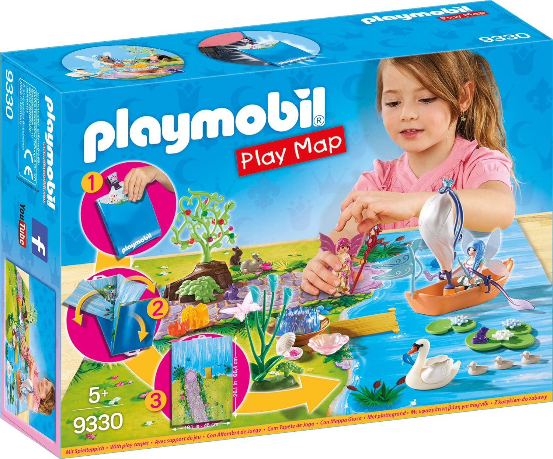 PLAYMOBIL- Play Map Hadas de Jardín Juguete, Multicolor, Talla única (geobra Brandstätter 9330)