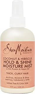 product image for SheaMoisture Hold and Shine Moisture Mist for Thick, Curly Hair Coconut and Hibiscus for Frizz Control 8 fl. oz.