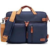 Bolso de hombro CoolBELL convertible en mochila para guardar ordenadores portátiles. Maletín de negocios multi funcional. Mochila de viaje para guardar ordenadores portátiles de 17,3 pulgadas (43,9 cm.) Unisex (Azul)