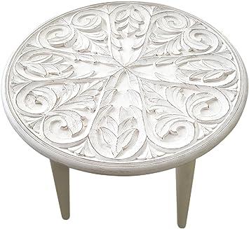 Amazon De Habeig Gartentisch Weiß Beistelltisch Garten Holz Tisch