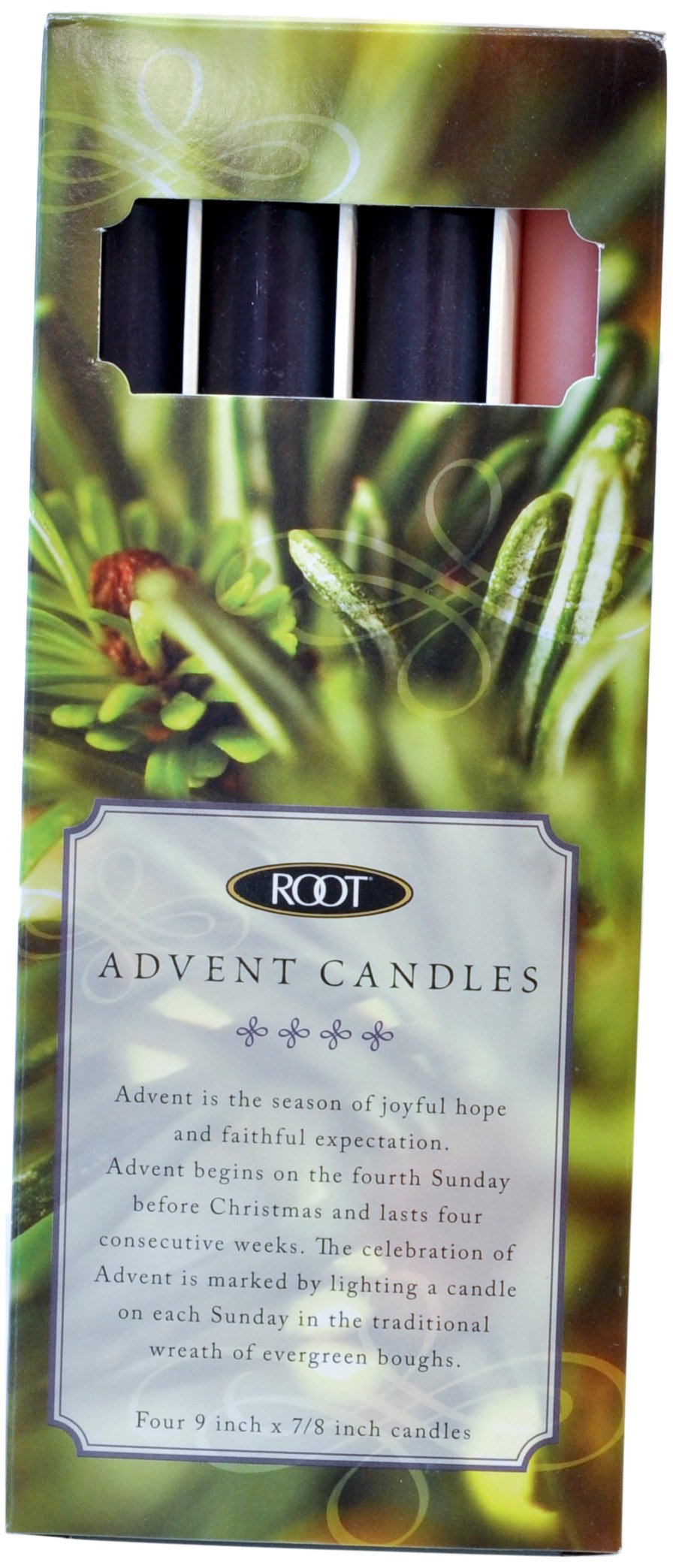 Root Advent Candles, Set of 4