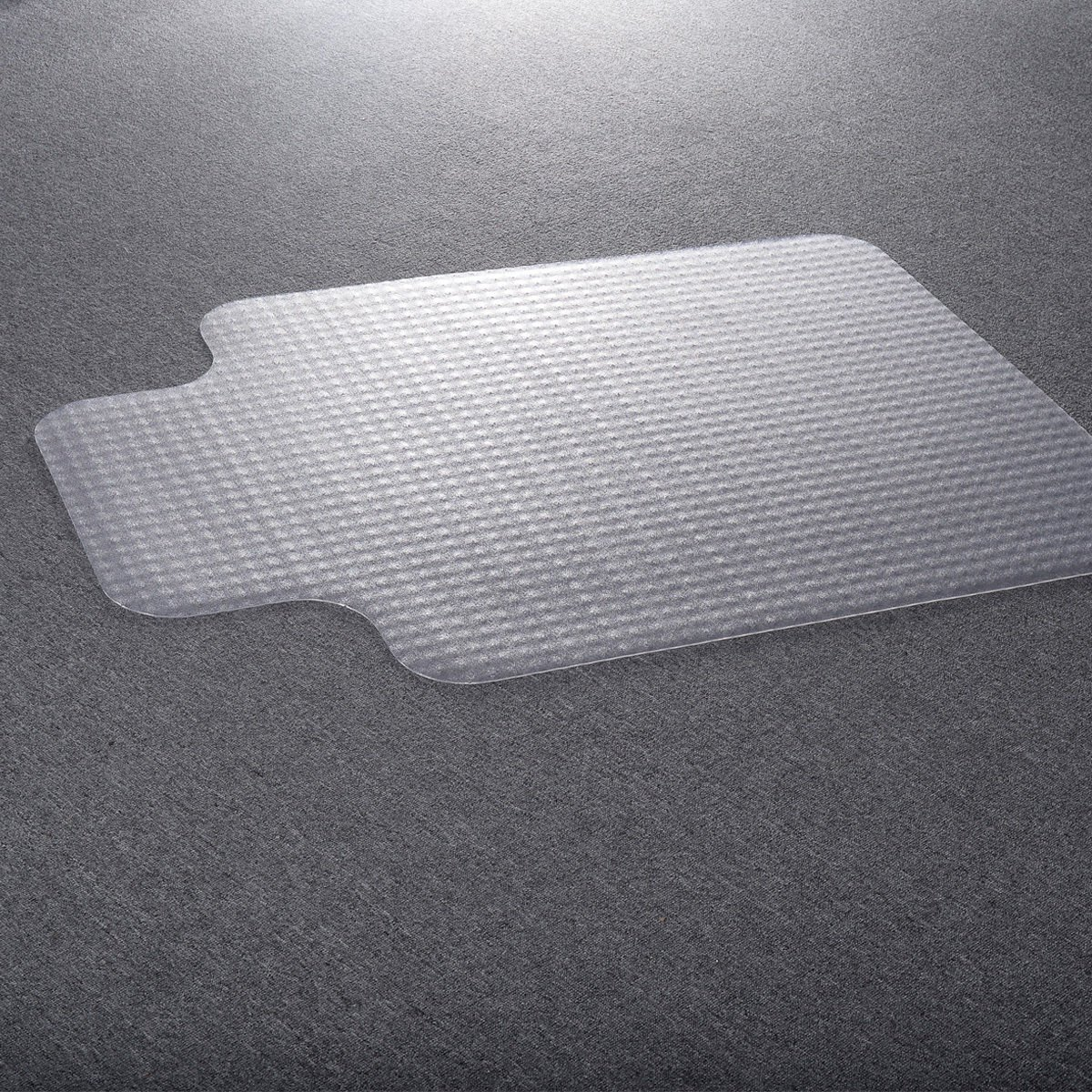 Costway 90 X 120cm PVC Floor Mat Home Office Chair Studded Back Lip Standard Pile Carpet