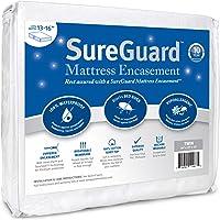 SureGuard Mattress Encasement - 100% Waterproof, Bed Bug Proof, Hypoallergenic - Premium Zippered Six-Sided Cover - 10 Year Warranty