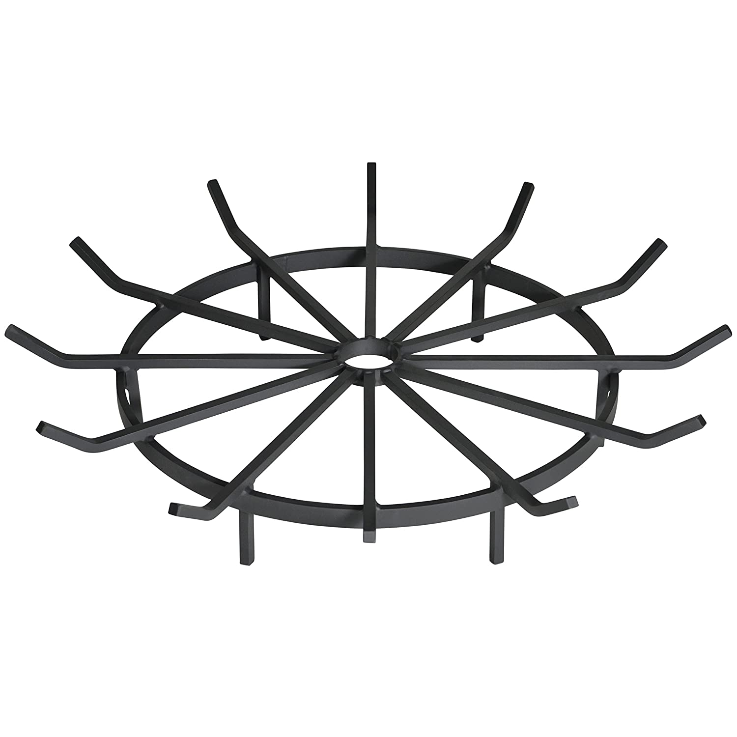 Heritage Products Wagon Wheel Firewood Grate for Fire Pit, Chiminea - Made in the USA (12 Inch) Federated Trade RGS-1208