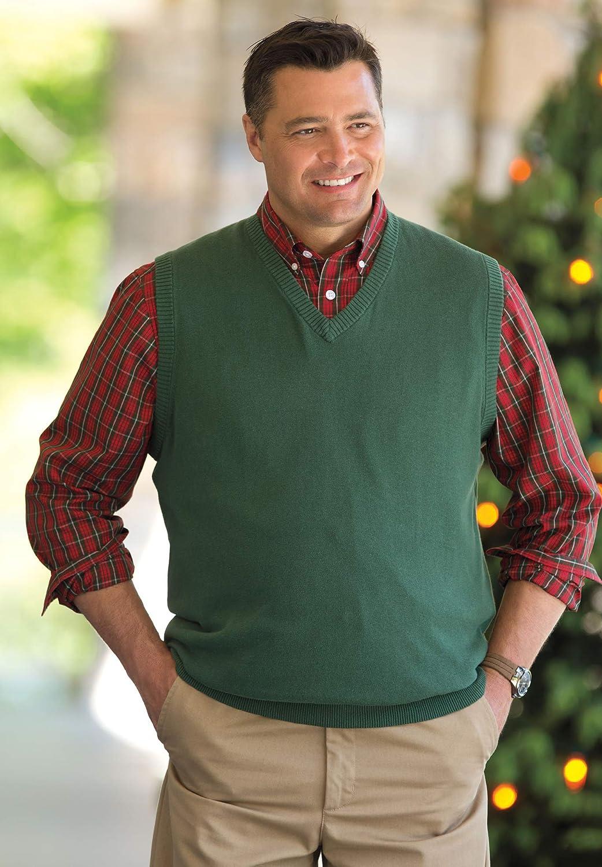 1920s Style Mens Vests  Big & Tall Lightweight V-Neck Sweater Vest KingSize Mens $64.99 AT vintagedancer.com