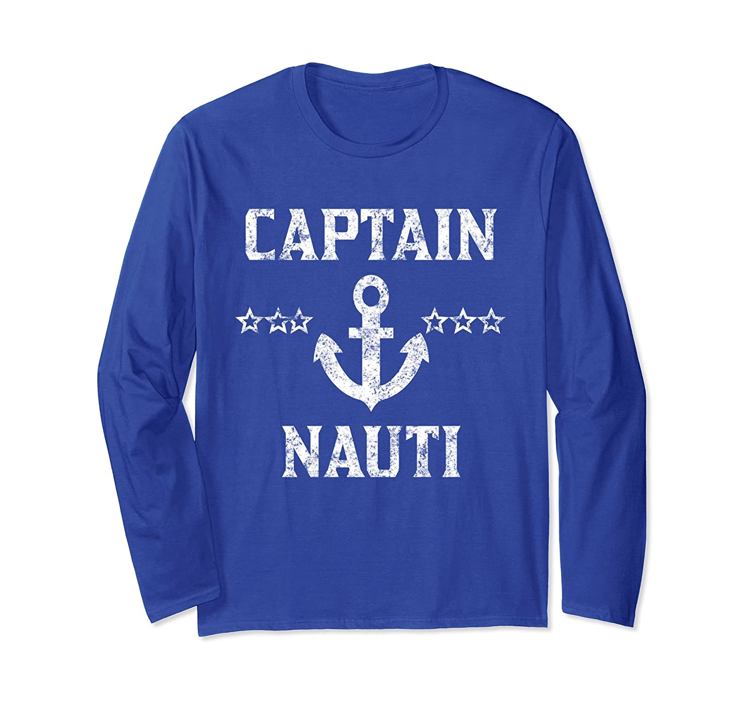 Vintage Captain Nauti Long Sleeve Shirt Cruise or Boating-TH