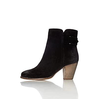 Brand - find. Women's Distressed Heeled Leather Ankle Boots: Shoes
