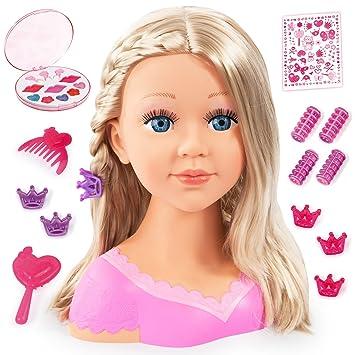 Con Design Bayer Charlene Super ModelBusto Muñeca Para Y Maquillar Peinar Accesorios tQdBxrshoC