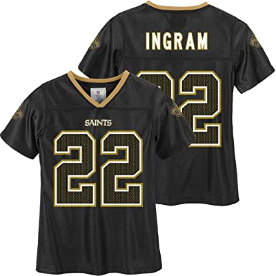 Mark Ingram New Orleans Saints #22 Girls Black Youth Player Home Jersey