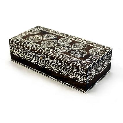 gall&zick Caja de Madera Cofre del Tesoro Caja Cofre del Tesoro pintadas a Mano Caja