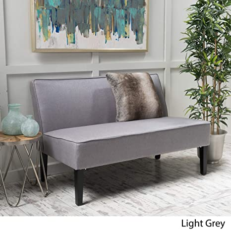 Amazon.com: Contemporary Living Room Loveseat - Polyester ...