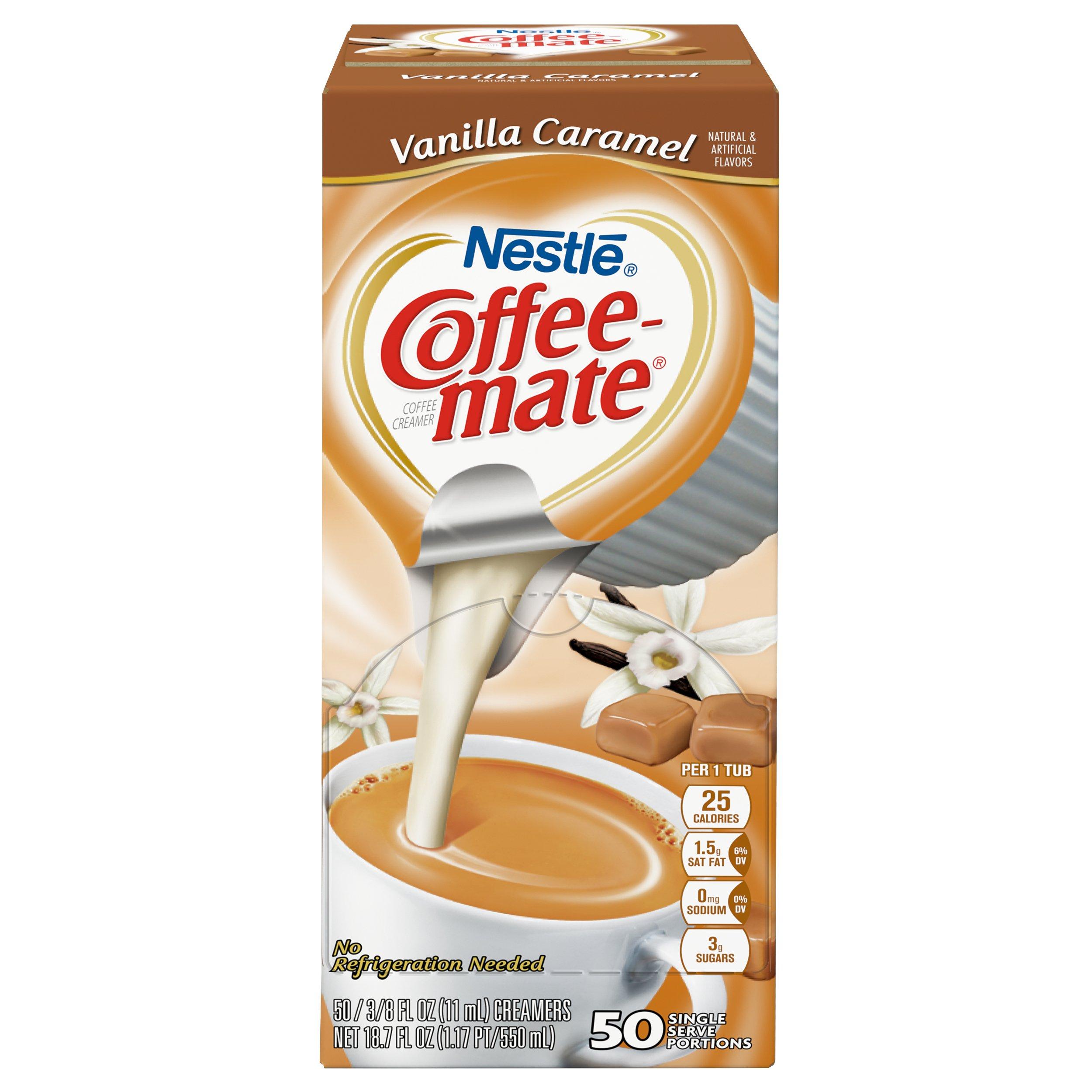NESTLE COFFEE-MATE Coffee Creamer, Vanilla Caramel, liquid creamer singles, Pack of 50 by Nestle Coffee Mate (Image #2)