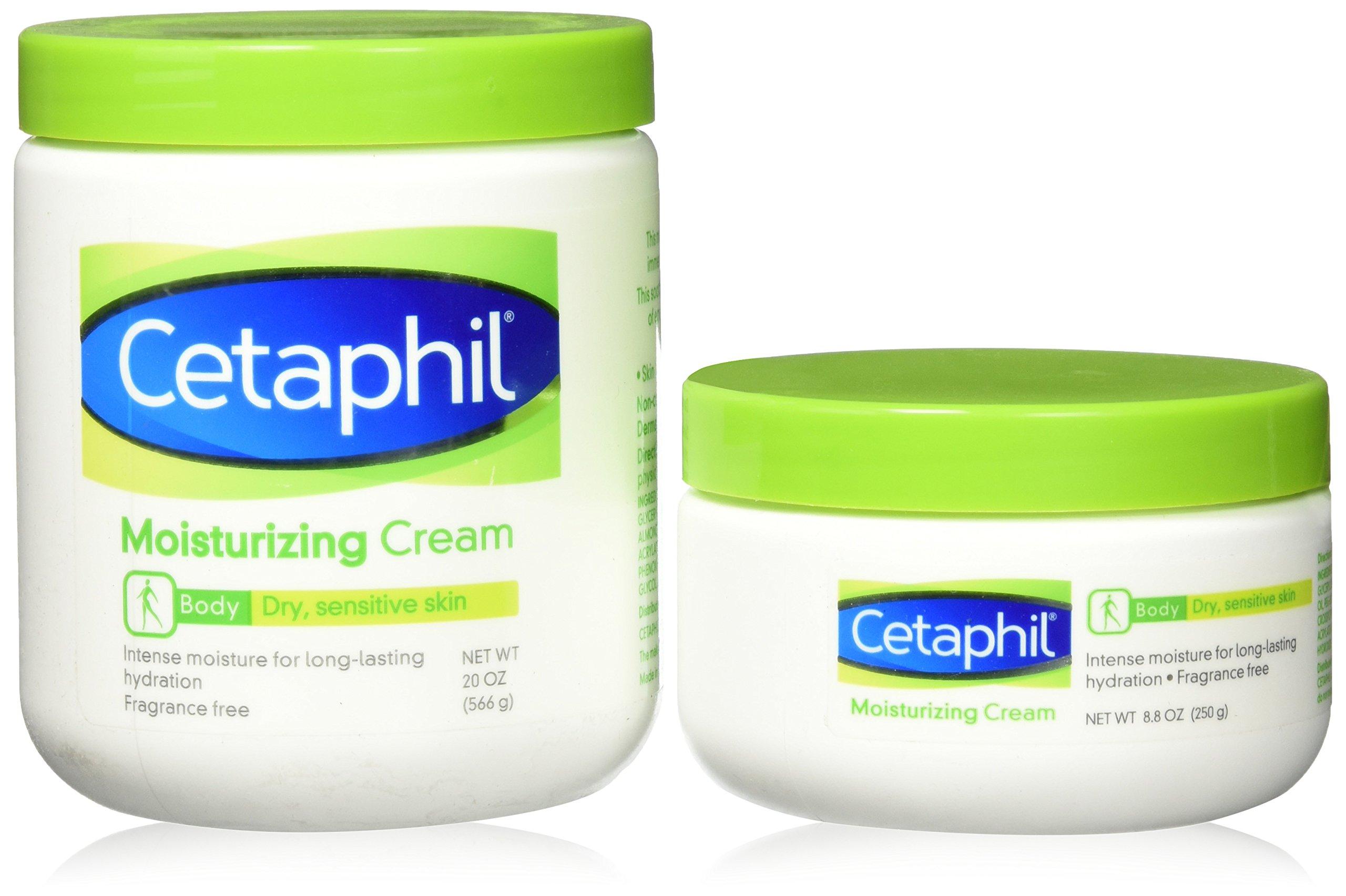 Cetaphil Cream - 2 Pack - 28.8 Oz Total - 20 Oz Jar and 8.8 Oz Jar by Cetaphil.