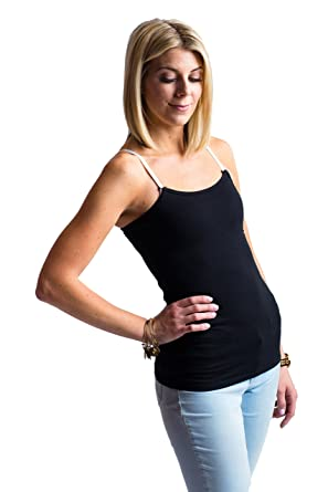 abc449c14e621 Undercover Mama Slimming Nursing Tank, Shapewear Tank Smooths Belly, Black  XS